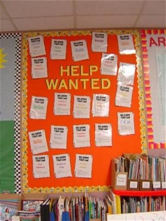 Classroom Jobs - Have the student fill out a job application and then assign students their jobs for the week. 5391