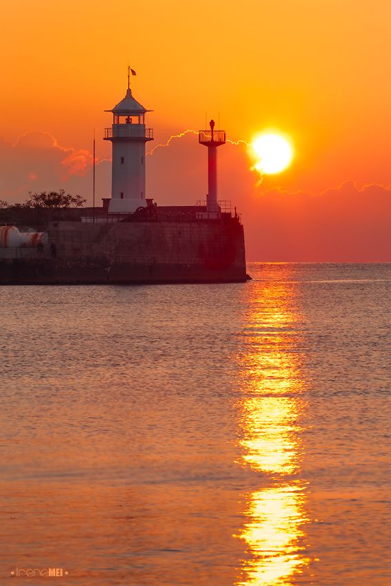 Sunrise - Ukraine.  Imagine all the sunsets and sunrises this lighthouse has seen...