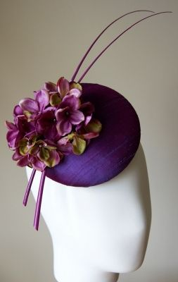 Hydrangea silk button hat - A Day At The Races Collection | Esther Louise Millinery
