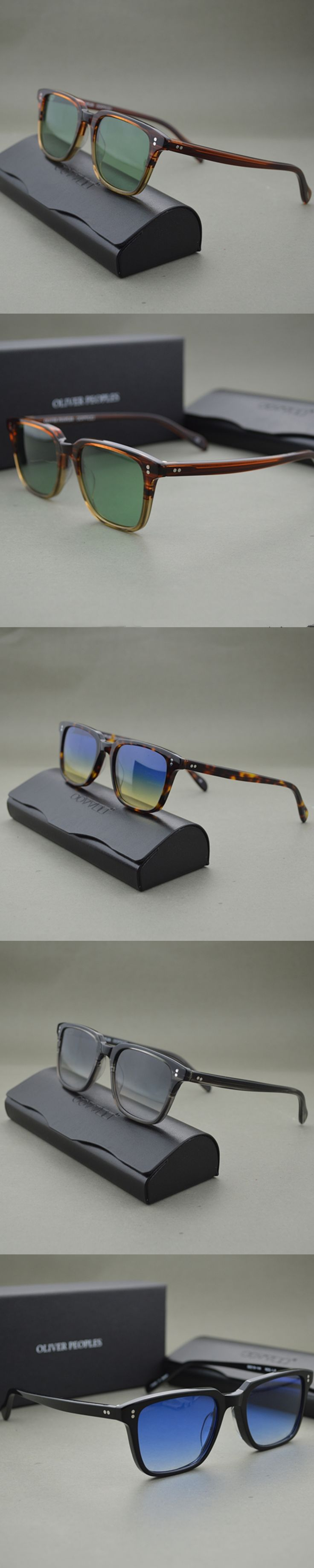 Retro Men's sunglasses Driving Outdoor men and women OV5031 NDG brown frame With green lenses color lenses oculos oliver peoples