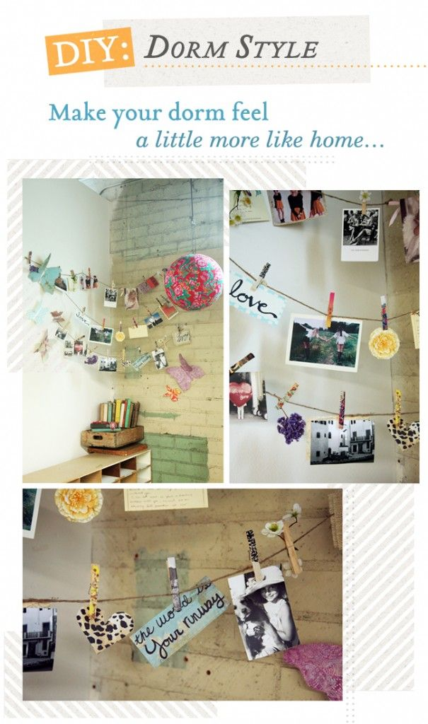 DIY: Dorm Style To view: http://threadsence.com/Blog/diy-dorm-style/ #diy #threadsence