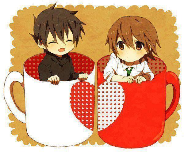 草間 野分 & 上條 弘樹 Nowaki Kusama and Hiroki Kamijou  (Juniou Romantica: Junjou Egoist)