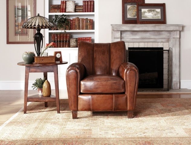 Stickley Paris Club Chair Luxurious Aged Leather
