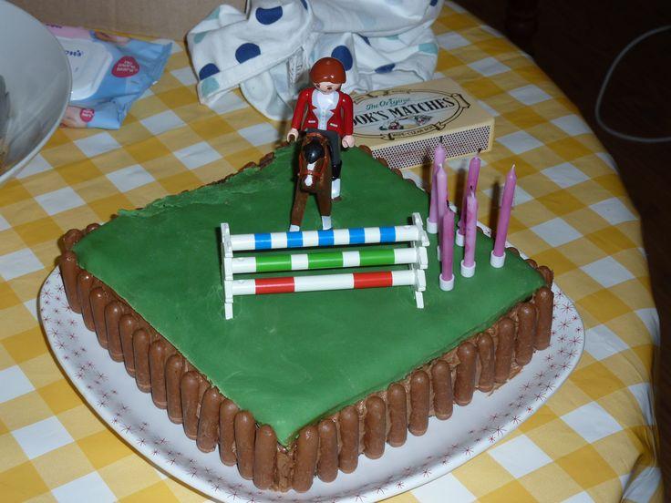 Horse riding cake
