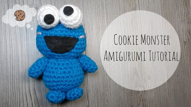Amigurumi Fortune Cookie Pattern : Amigurumi cookie monster tutorial