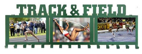 new track and field medal and picture holder