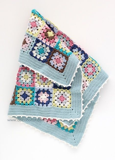 @ Cafenohut: Pretty Baby Blanket - made with DMC Woolly yarn