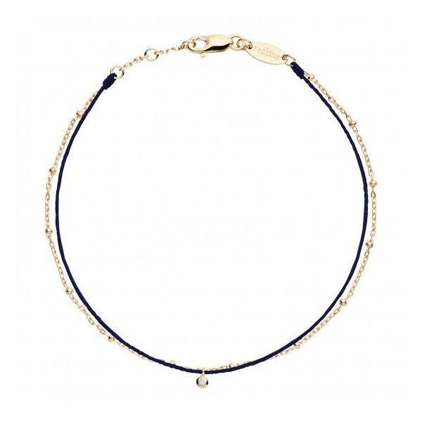 Womens Bracelets & Cuffs Redline 18ct Yellow Gold Navy Thread Diamond... (4,900 MXN) ❤ liked on Polyvore featuring jewelry, bracelets, yellow gold jewelry, navy jewelry, gold cuff bangle, gold jewelry and cuff jewelry