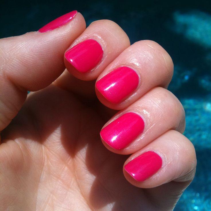 nice Pink Gel Nail Polish Design Images