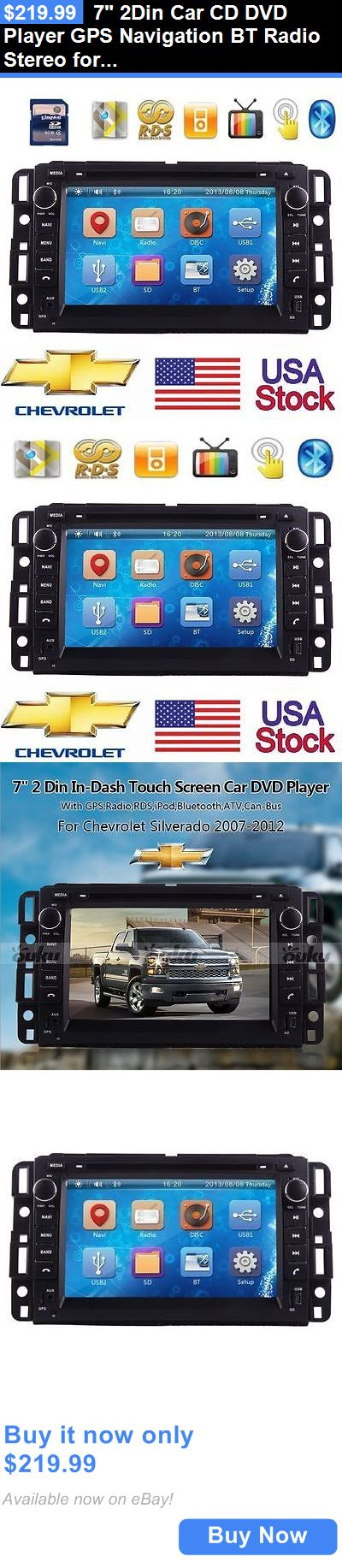 Vehicle Electronics And GPS: 7 2Din Car Cd Dvd Player Gps Navigation Bt Radio Stereo For Chevrolet Silverado BUY IT NOW ONLY: $219.99
