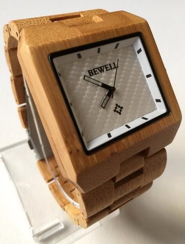 The Hudson Light Wood Watch | Each natural Hudson watch is truly unique. The watch is handmade and has light wood coloration but s | Primary View | Sassy Posh