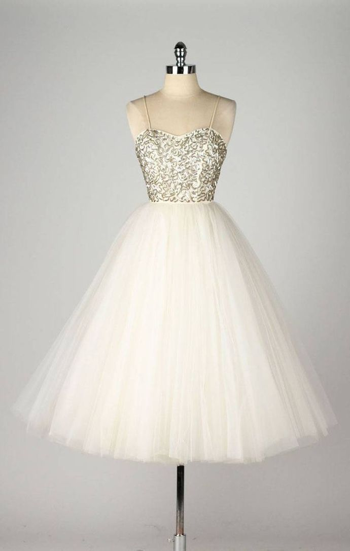 Charming Evening Dress,2017 Prom Dress,Spahetti Strap Prom Dress,Tulle Prom Gown by fancygirldress, $136.00 USD
