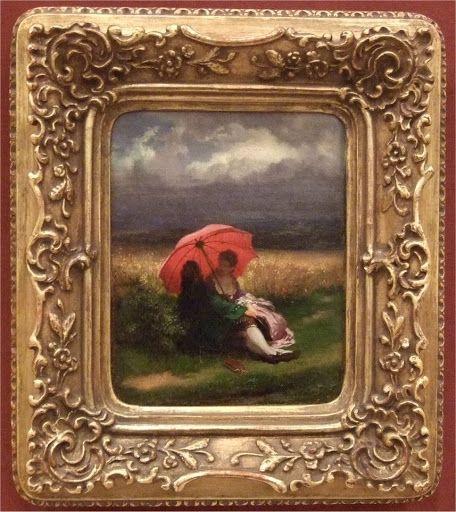 A Red Parasol, Josef Manes