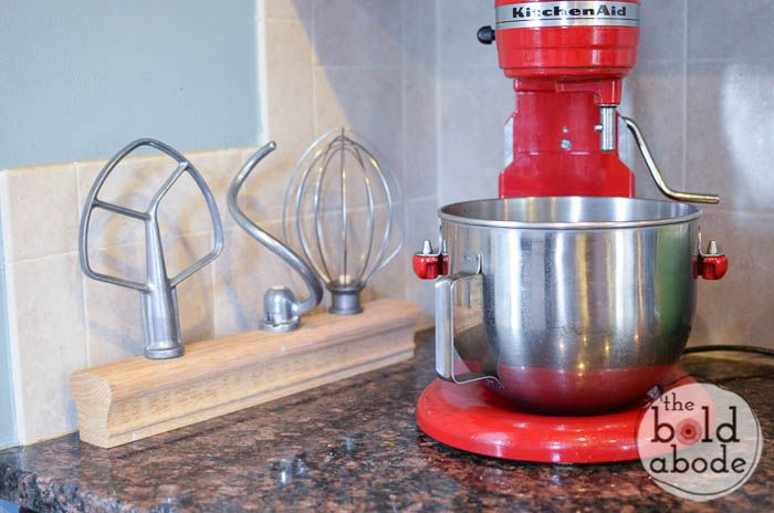 Don't let your mixer attachements run wild! Make your very own DIY Mixer Attachment Stand and give them their own special home!