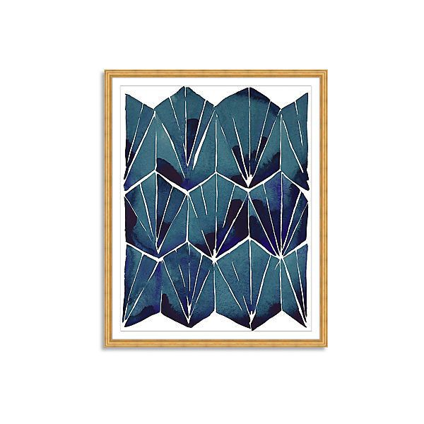 Kate Roebuck Blue Tile on Tan Print Paintings ($289) ❤ liked on Polyvore featuring home, home decor, wall art, blue painting, blue wall art, framed wall art, framed paintings and geometric paintings