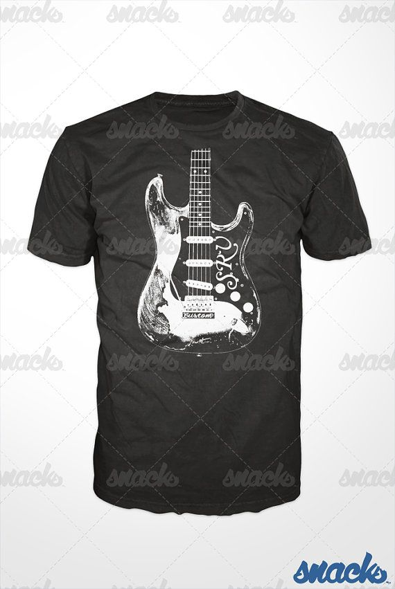Stevie Ray Vaughan Guitar Tshirt Srv Tshirt Blues By