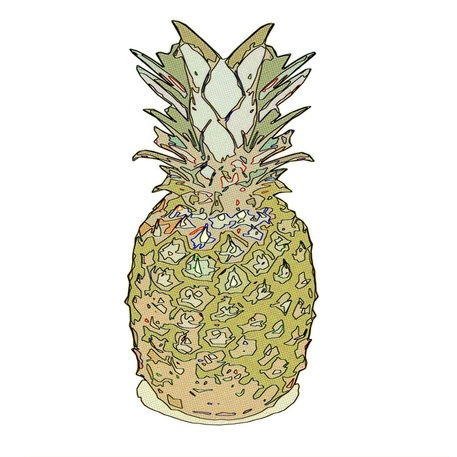 'Electric Pineapple' by Petros Vasiadis on artflakes.com as poster or art print $16.63