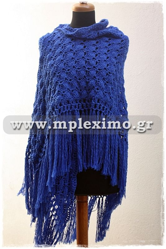 crochet blue shawl