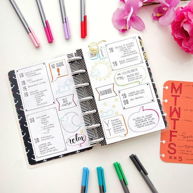 This is how I setup my morning and night routines 😄👌. The insert on the right is my weekly routine. #bujo #bulletjournal #bulletjournaling #bujojunkies #bujolove #bulletjournalcommunity #plannernerd #plannergirl #myhappybujo #discboundnotebook #discboundplanner #wearebujo #happyplanner #showmeyourplanner #bujoinspire #bujoinspo