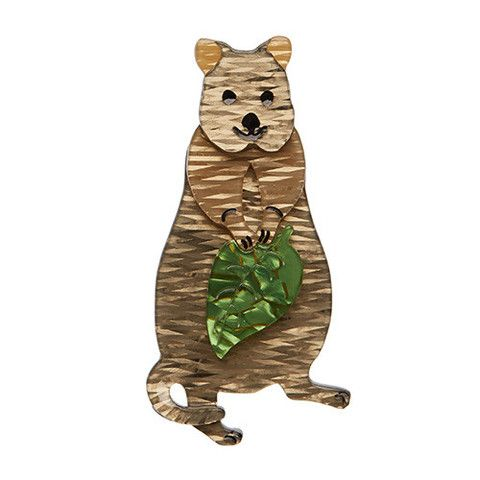 """Erstwilder Limited Edition Rottnest's Best Brooch. """"Look I know I'm about as adorable as adorable gets, but don't try to pick me up. I'm a look but don't touch kind of guy."""""""