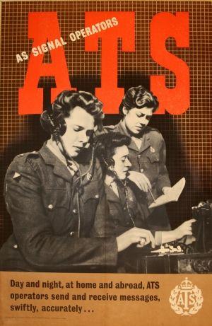 ATS Signal Operators, 1940s - original vintage poster listed on AntikBar.co.uk
