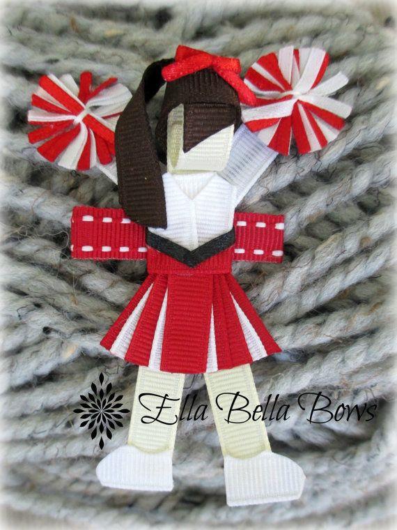 Cheerleader Ribbon Sculpture Hair Clip