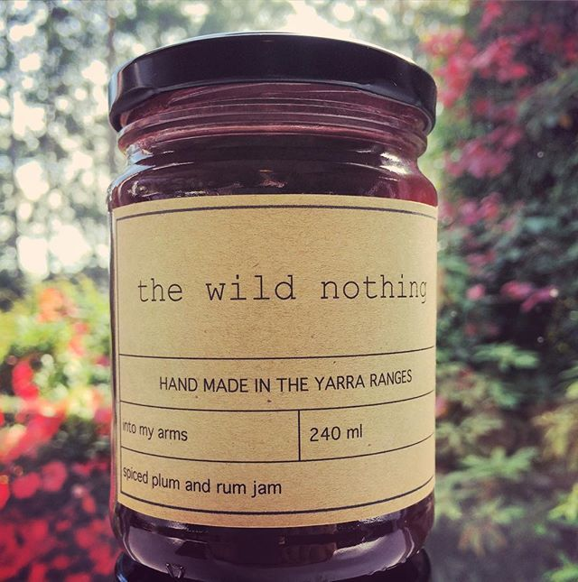 Introducing Into My Arms - our brand new spiced plum and rum jam, available now at thewildnothing.com.au/shop  We're so excited about this one, it's a winner!!  #spicedplumandrumjam #homemadejam #plumandrumjam #plumjam #thewildnothing #madeinmelbourne #madeintheyarraranges #shoplocal #onlinestore #candyisamazing