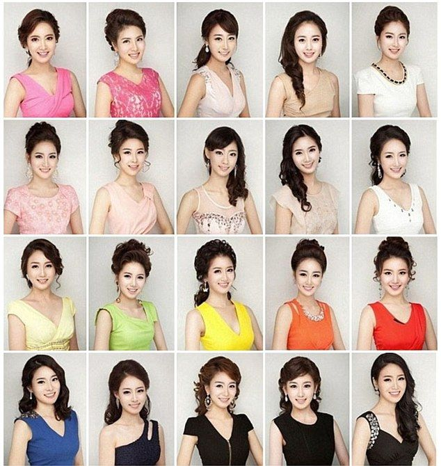 Is it the same girl? A montage of all of the contestants for Miss Korea 2013 was posted on Reddit showcasing S. Korea's obsession with plastic surgery