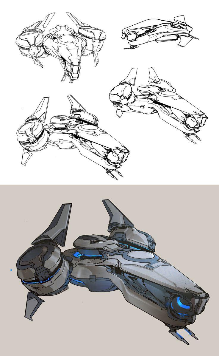 ArtStation - Halo 5- Phaeton preliminary sketches, sparth .