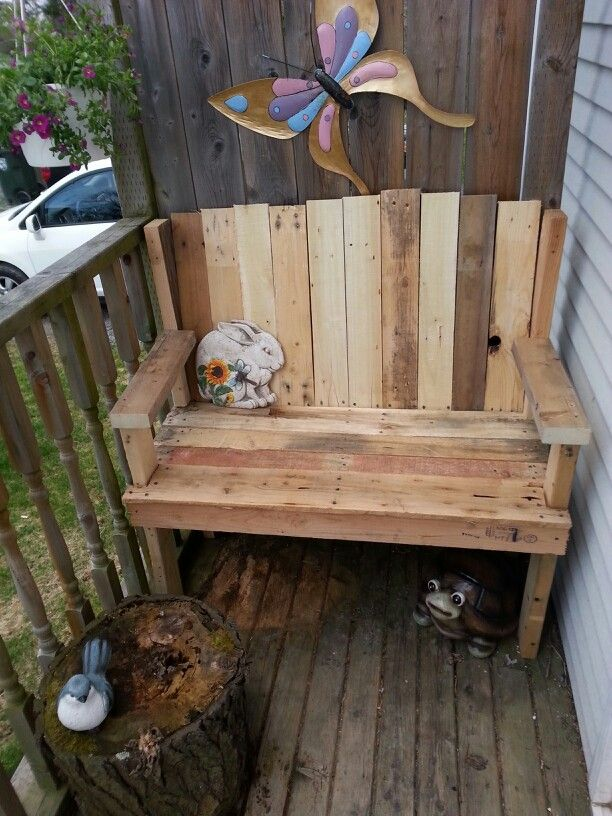 My newest bench. For my front entry