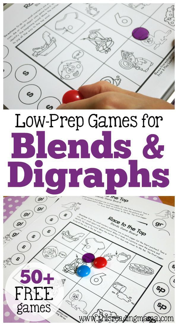50+ FREE Games for Blends and Digraphs - Just Print & Play! | This Reading Mama