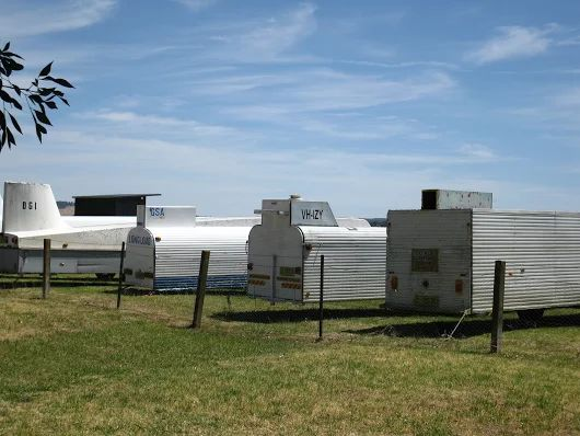 Glider trailers. Ready to ride the thermals at Cootamundra.