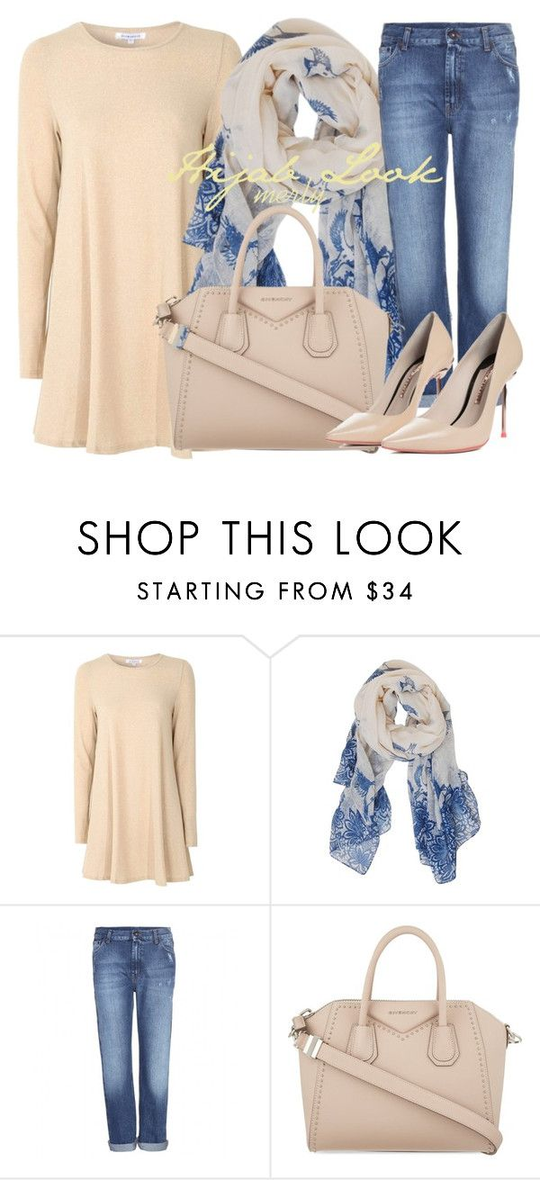 """Hijab Look 063"" by merlyana-dwi-hapsari on Polyvore featuring Glamorous, Humble Chic, McQ by Alexander McQueen, Givenchy and Sophia Webster"