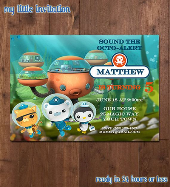 7 best Octonauts Party Ideas images on Pinterest Octonauts party