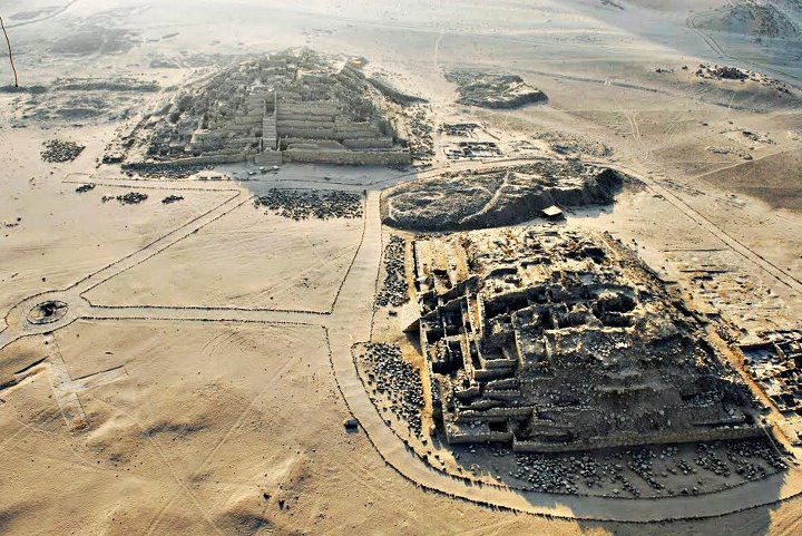 Caral, Peru* Ancient civilization in the Americas, -Norte Chico civilization. The ruins date back over 5,000 years, which means there were cities and life in Peru around the same time as Mesopotamia and Ancient Egypt.