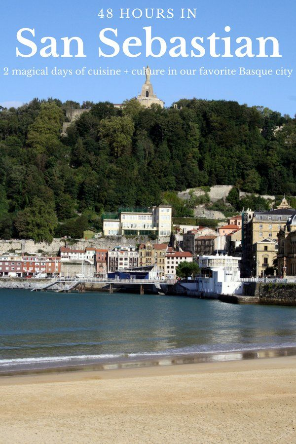 48 hours might not seem like enough of time to see the beautiful city of San Sebastian, but with our tips you'll be free to eat, drink and discover this amazing city! #sansebastian #spain #travel