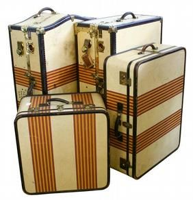 Clearly obsessed with old luggage