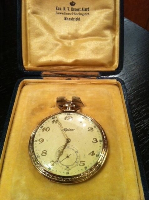 Alpina vintage pocket watch around 1930 by Alpina Watches, via Flickr: Pocket Watch, Photo