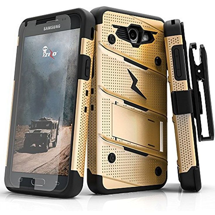 Samsung Galaxy J7 Prime Case, Bolt Series W/ Screen Protector Kickstand 12 Ft. - #Doesnotapply