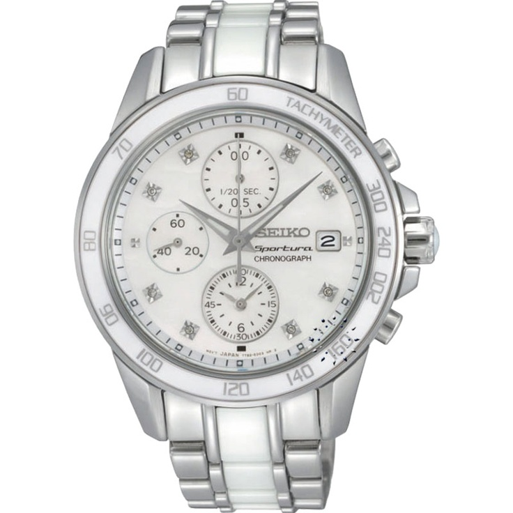 SEIKO SPORTURA Ladies Chronograph Diamond  553€  http://www.oroloi.gr/product_info.php?products_id=30518