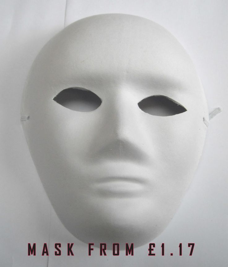 WHITE FACE MASK PLAIN MASKS FANCY DRESS Hallowen MASQUERADE PARTY JOB LOT