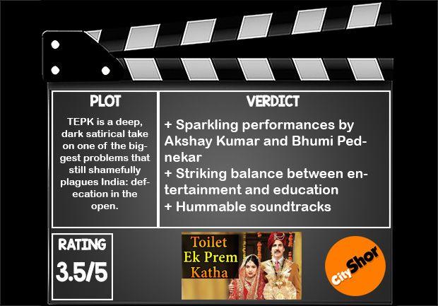 Movie Review - Toilet: Ek Prem Katha http://bit.ly/2xinSUx   #MovieReview #Bollywood #Entertainment #ToiletEkPremKatha #CityShorBengaluru