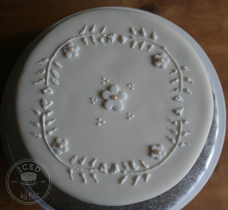 top of brooke's wedding cake x