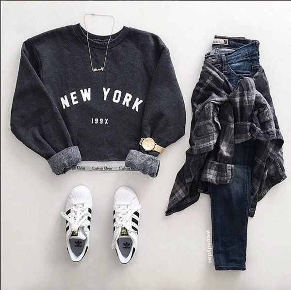 The top . Long sleeve. Crop top. Hoodie .  Maybe not the whole outfit for me but I do like the cropped sweater