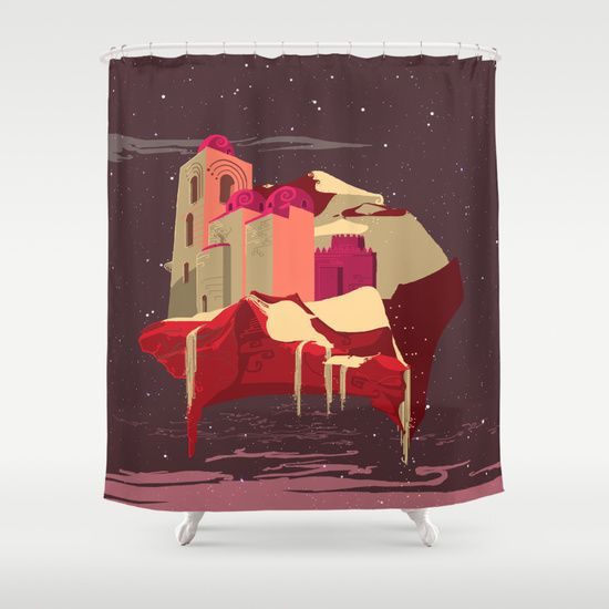 Arabian Space Shower Curtain