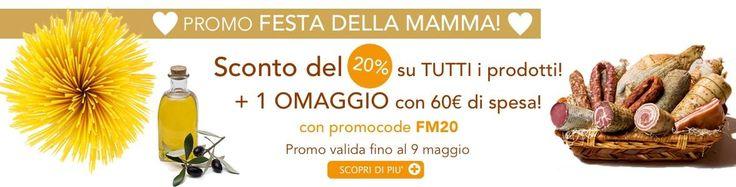 Fino al 9 maggio SUPER PROMO!  Sconto del 20% + spedizione gratuita + OMAGGIO a scelta con una spesa di almeno 60€! Acquista ora! >>> http://www.gustiditoscana.it/promo-festa-della-mamma.html  #promo#sconto#compraonline#madeintuscany
