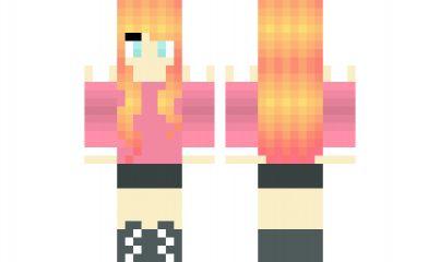 minecraft skin Sunset-Hair-Girl