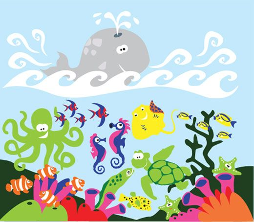 Under the Sea Mural-Paint By Number Children's Murals