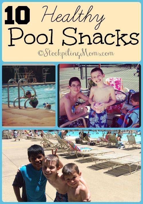 10 Healthy Pool Snacks #summer #pool #recipes