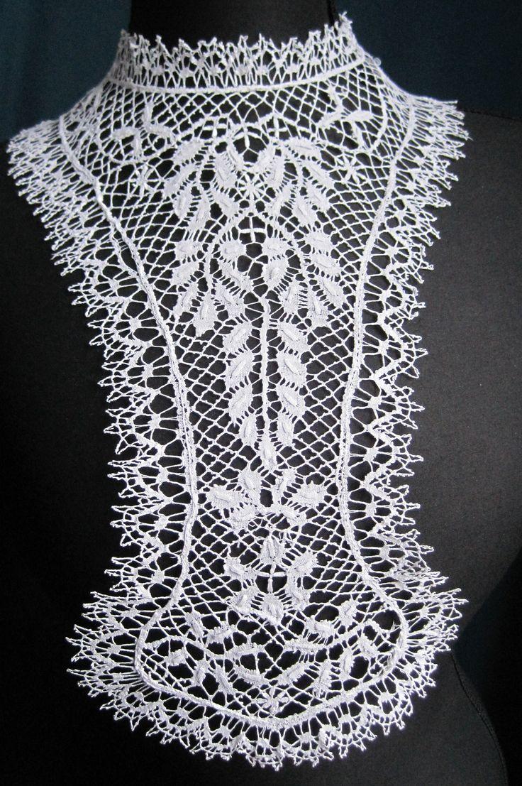 Image detail for -798. Bedfordshire Bobbin Lace Plastron | Lace For Study